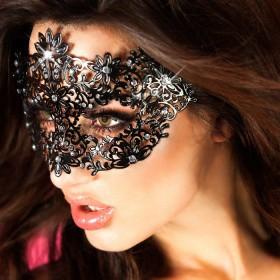 Maschera filigranata con strass.