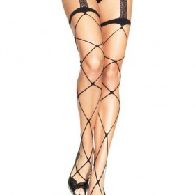 Calze : Jumbo Net Garterbelt Stockings