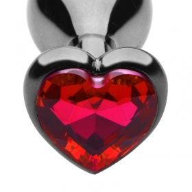 Plug anale heart jewel plug (large) red