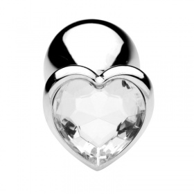 Plug anale heart jewel plug (medium) clear