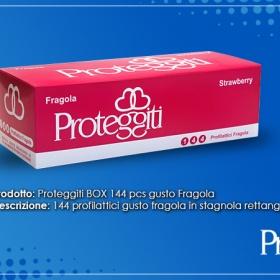 Profilattici Proteggiti aroma Fragola 144 Pz.