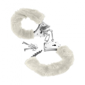 MANETTE DI PELUCHE BIANCO FETISH FANTASY SERIES BEGINNER'S FURRY CUFFS