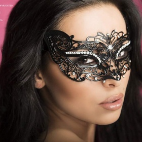 "Accessori : maschera filigranata con strass. "" 3 """
