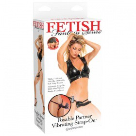 Fetish Fantasy Posable Partner vibrazione Strap-On