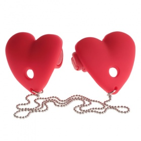 COPRICAPEZZOLI VIBRANTI FETISH FANTASY SERIES VIBRATING HEART PASTIES RED