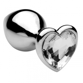 Plug anale heart jewel plug (large) clear