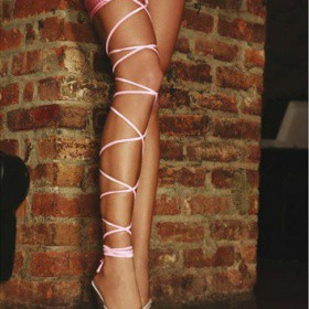 Accessorio: GIARRETTIERA ROSA TWISTED LEG GARTER